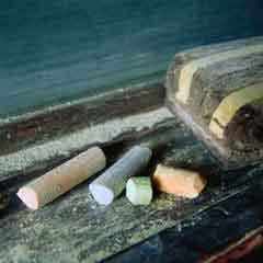 Colored Chalk with Eraser